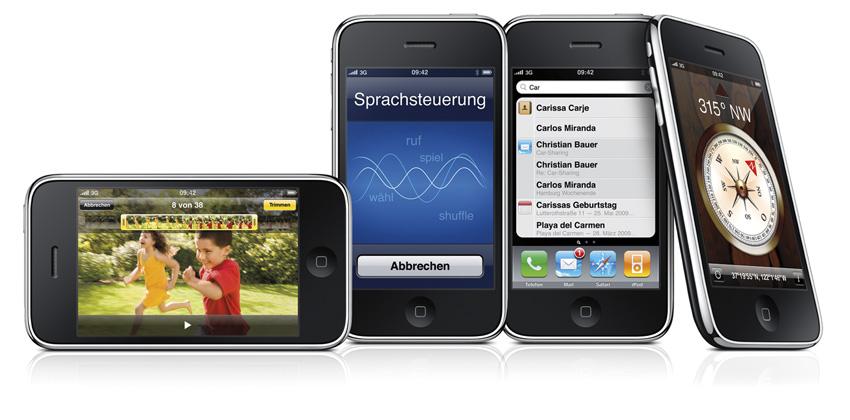 Abbildung der Vorversion iPhone3GS