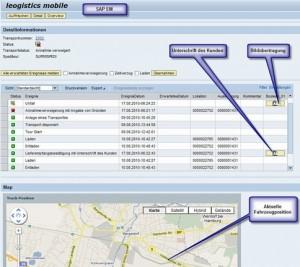 SAP Transportmanagement per Smartphone