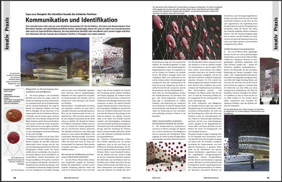 Fassade des Schweizer Pavillons auf der Expo 2010 erhält bedeutende Designpreise