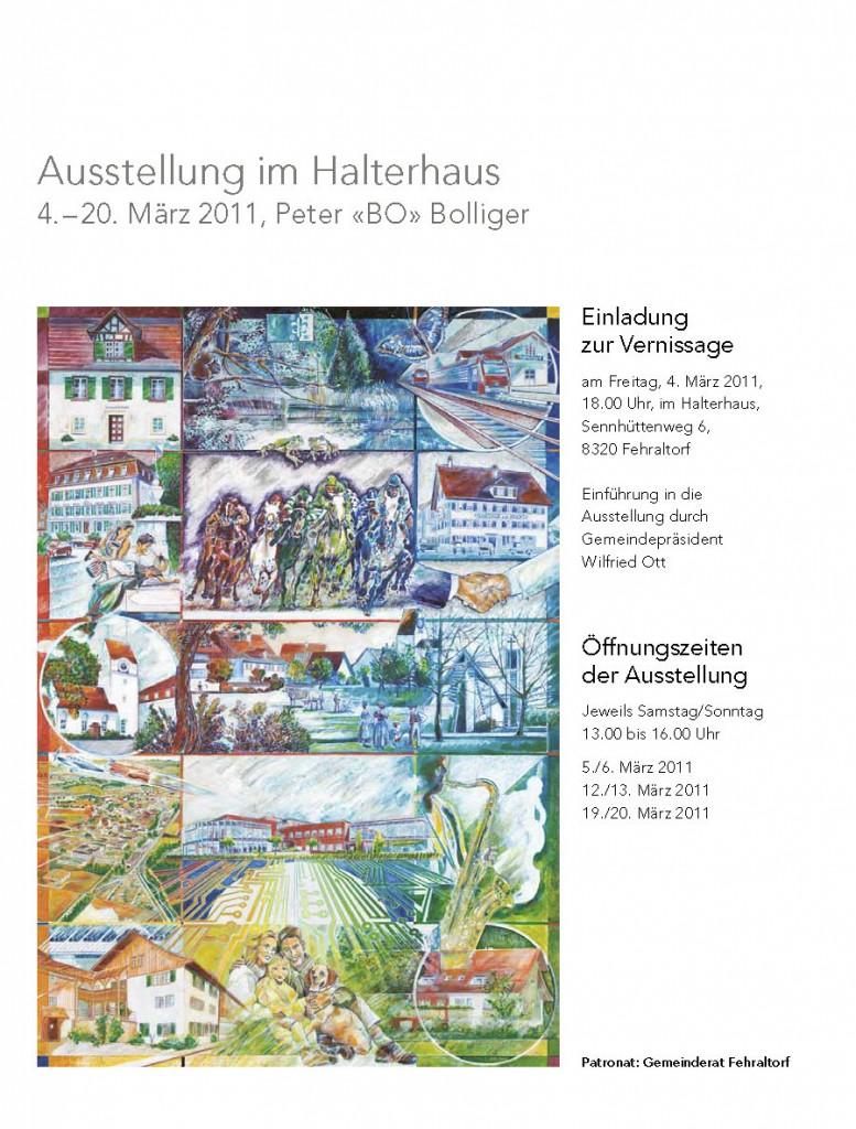 FarbTon – Ausstellung von Peter «BO» Bolliger im Halterhaus Fehraltorf