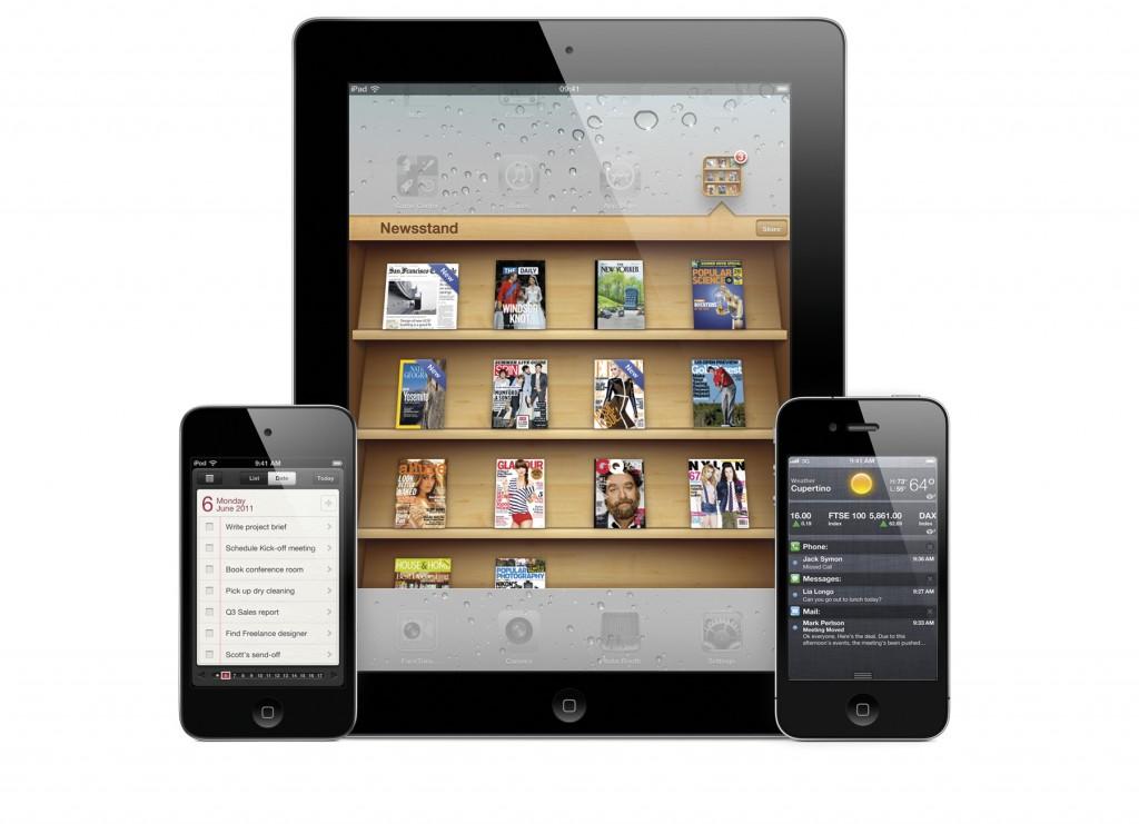 iPhone 4S Newsstand, Erinnerungs-Tool und Wetter