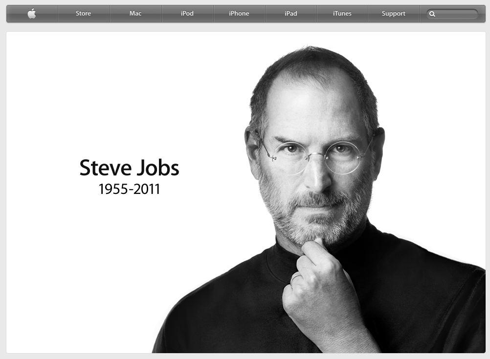 Steve Jobs tot. Heute morgen auf der Apple Website