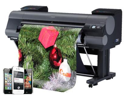 Grossformatdrucker-Aktion von Canon sorgt für doppelten Weihnachtsspass
