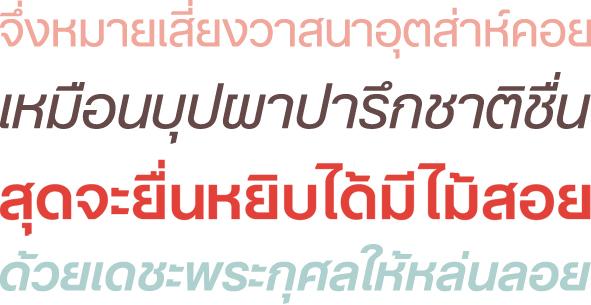 Helvetica jetzt auch in Thai