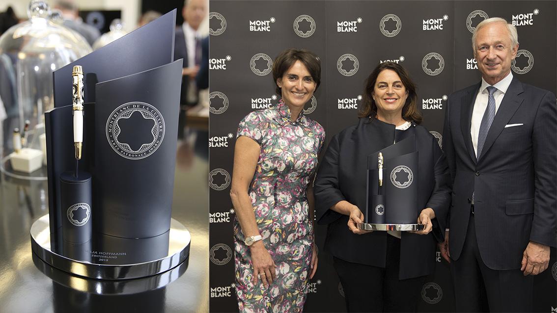Maja Hoffmann erhält Montblanc Parton of Art Award