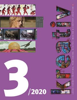 Kreativ Journal 2020, 25.Jahrgang der Fachzeitschrift für Kreativ-Profis aus den Bereichen Werbetechnik, Large Format Printing, 3D-Printing, Textildruck, Digital Imaging, Fotografie, Typografie, Video und Webdesign