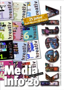 Mediakit, Mediadaten Kreativ Journal 2020